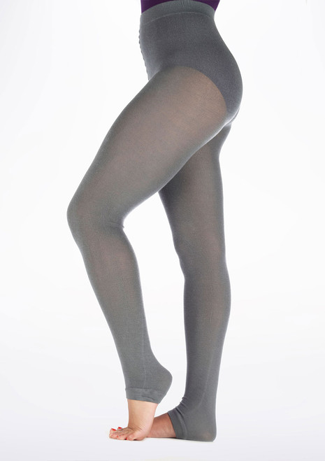 Gaynor Minden Sweater Warm Up Tights Grey side. [Grey]
