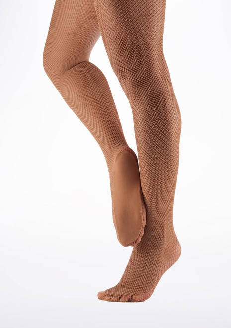 Capezio Professional Fishnet Seamless Dance Tights Suntan main image. [Tan]