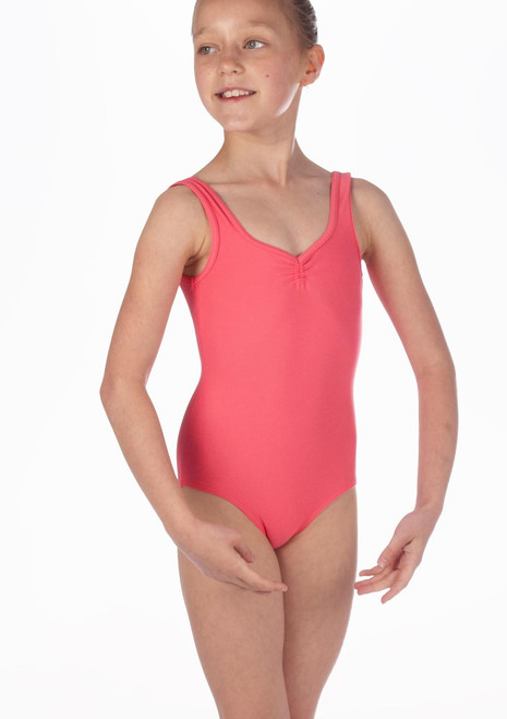 Repetto Debutant Girls Tank Leotard Pink. [Pink]