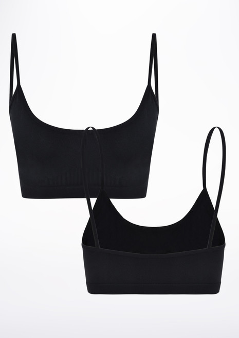 Move 2 Pack Seamless Oriana Bra Black front. [Black]