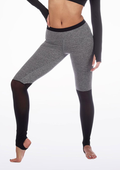 Capezio Convertible Stirrup Leggings* Grey. [Grey]