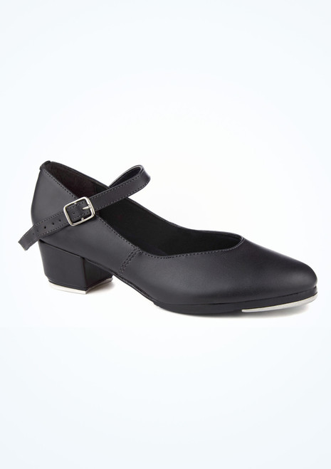 So Danca Buckle Strap Tap Shoe Black. [Black]