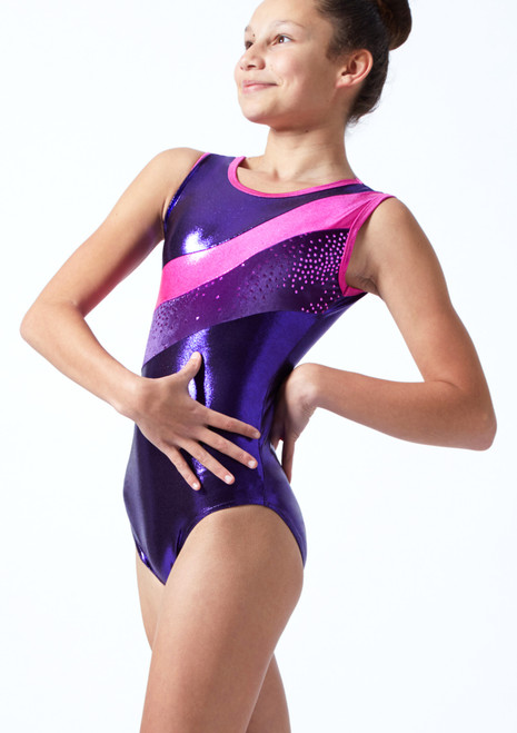 Tappers & Pointers GYM33 Gymnastics Leotard Plum Front-1T [Plum]