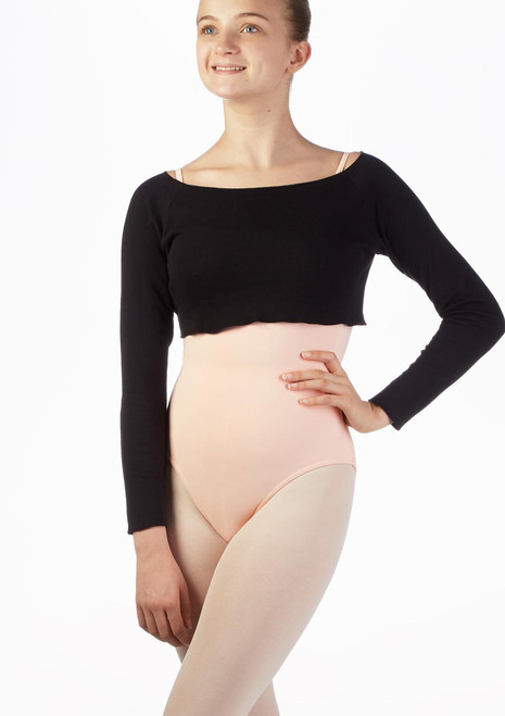Intermezzo Teen Cropped Sweater Black front. [Black]