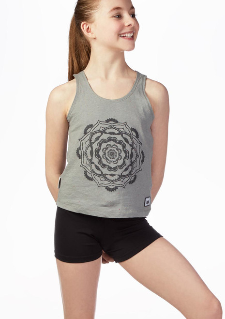 Dare2b Girls Fitness Top Grey front. [Grey]
