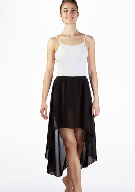 Bloch Lyrical Contemporary Dance Skirt Black front. [Black]