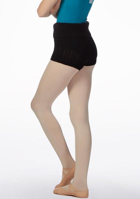 Bloch Nadine Knitted Short Black* side. [Black]