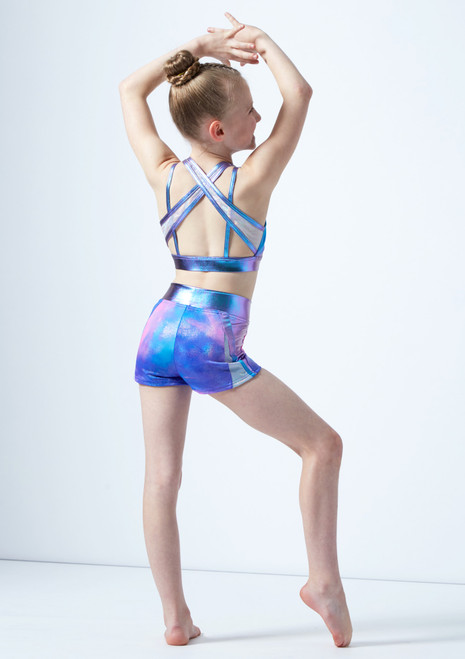 Capezio Girls Multi Strap Bra Top* Blue back. [Blue]