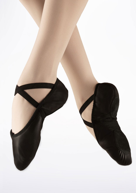 Bloch Prolite Split Sole Leather Ballet Shoe Black. [Black]