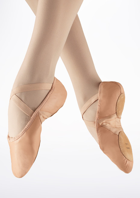 Bloch Prolite Split Sole Leather Ballet Shoe Pink. [Pink]