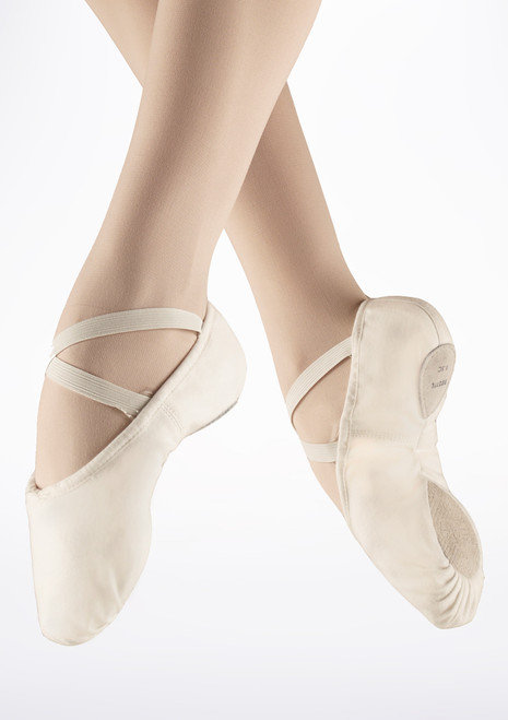 Bloch Split Sole Canvas Ballet Shoe White. [White]