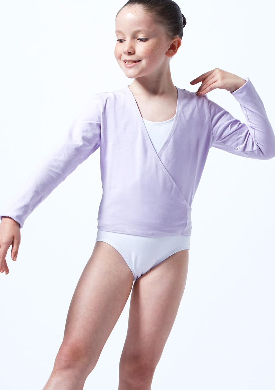 Move Kimi Kids Ballet Wrap Purple front. [Purple]
