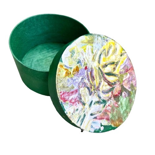 White Ginger Lily: Painted Jewellery Box <SOLD>