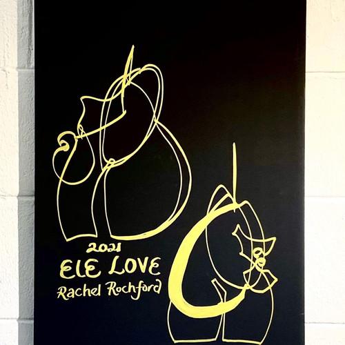 Golden Line Drawing: Ele Love