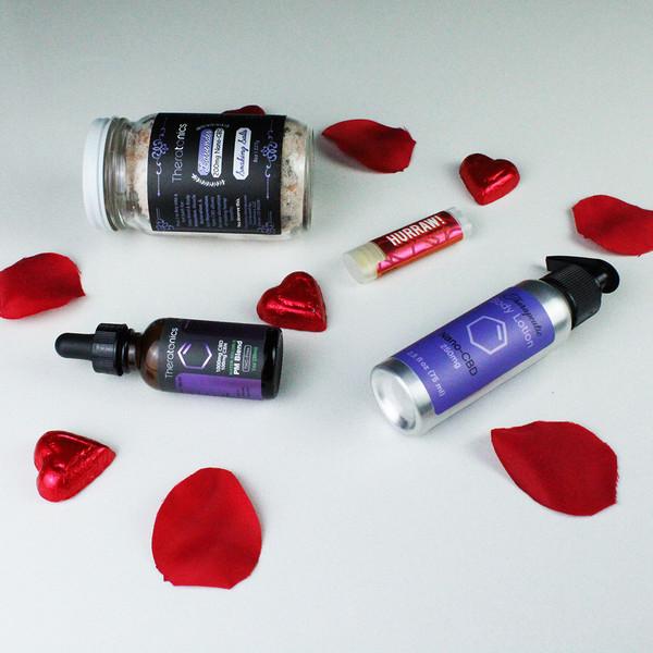 CBD Product Set, CBD Bath salts, CBN Sleep CBD, Lip Balm, Massage Lotion