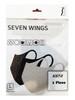 Seven Wings 7 Wings 3D mask color Black