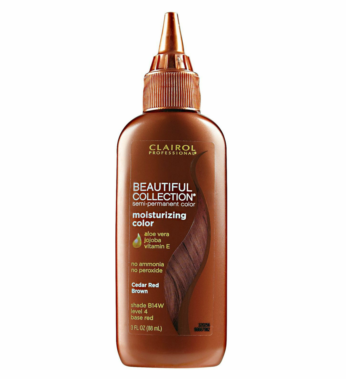 Clairol Beautiful B14W Cedar-Red Brown Hair Color 3 oz: bottle
