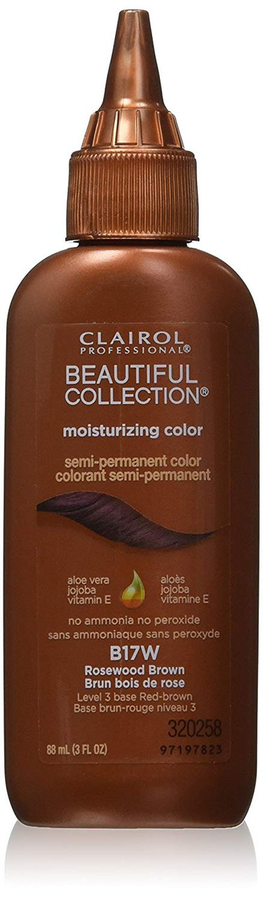 Clairol Beautiful B17W Rosewood Brown Hair Color: bottle