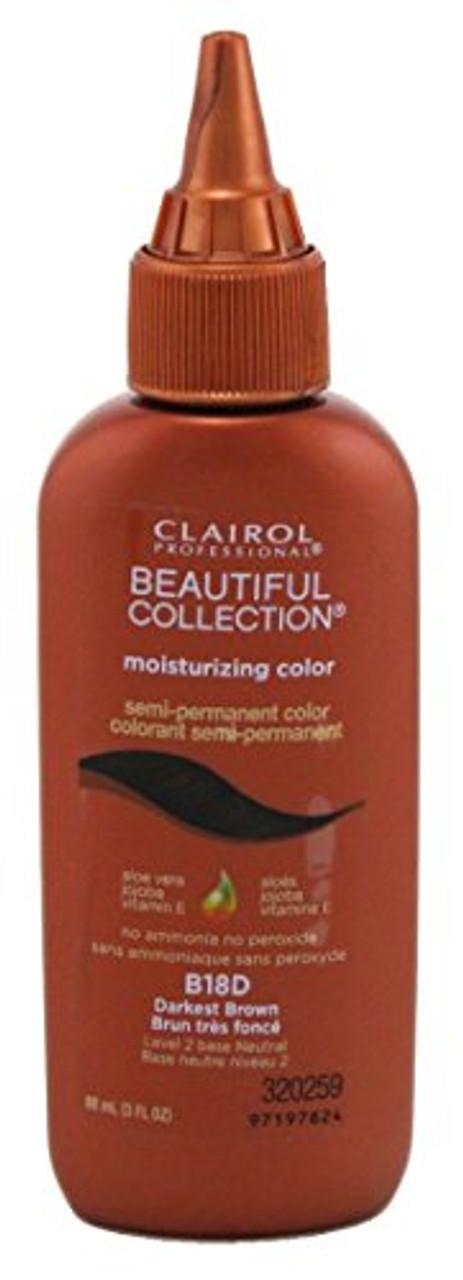Clairol Beautiful B18D Darkest Brown Hair Color