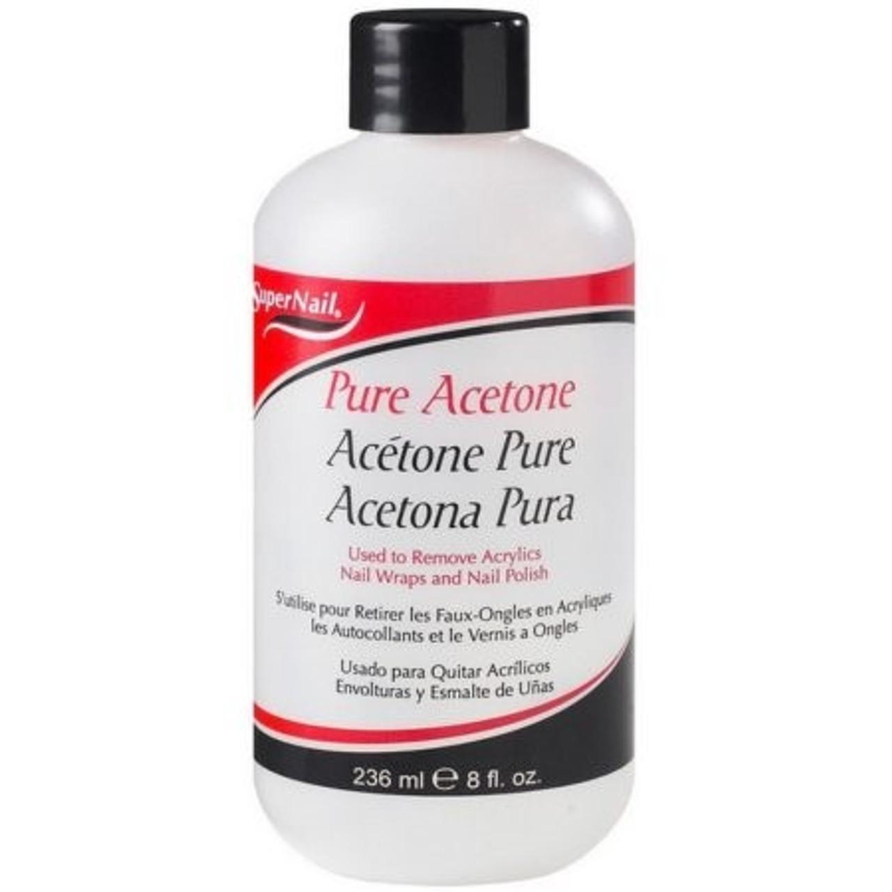 Super Nail Pure Acetone Polish Remover 8 Oz