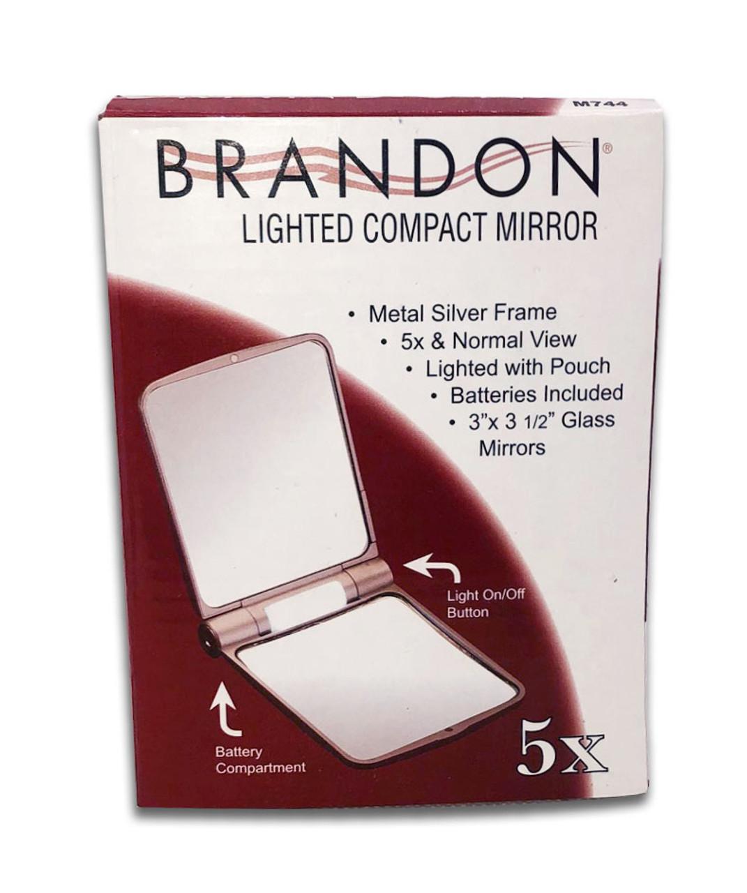 5X Lighted Travel Mirror