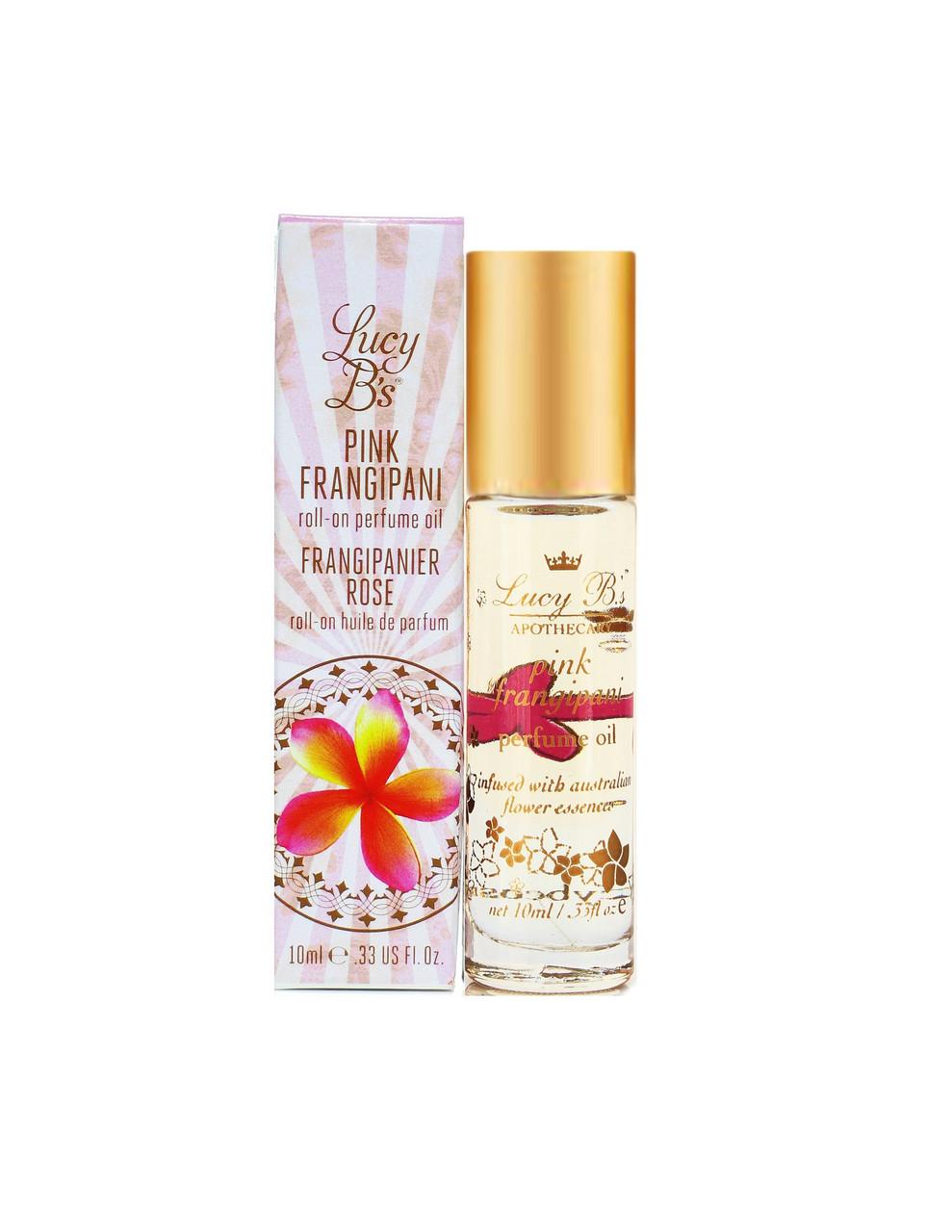 Lucy B's Pink Frangipani Roll-On Perfume Oil 10 mL