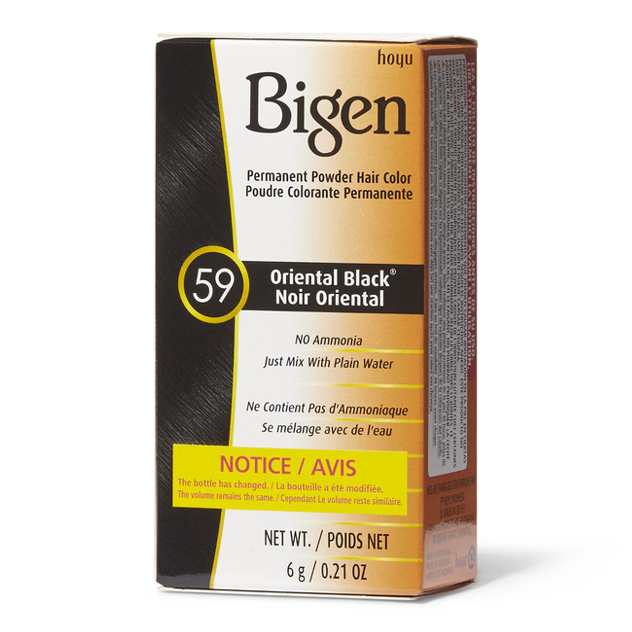 Bigen Oriental Black 59 0.21 oz box