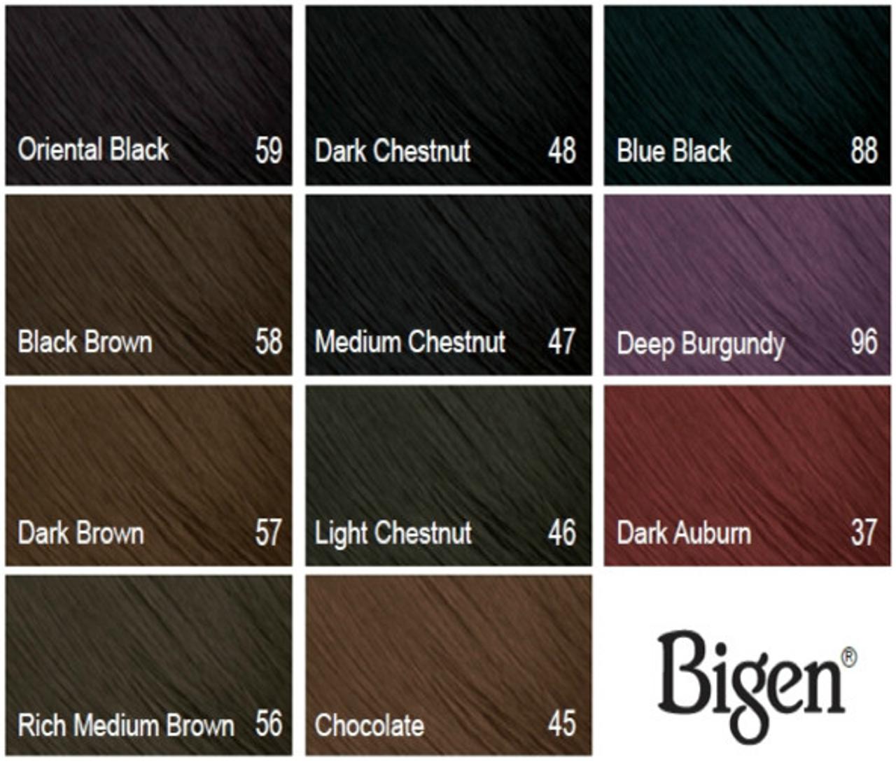 Bigen Color Chart