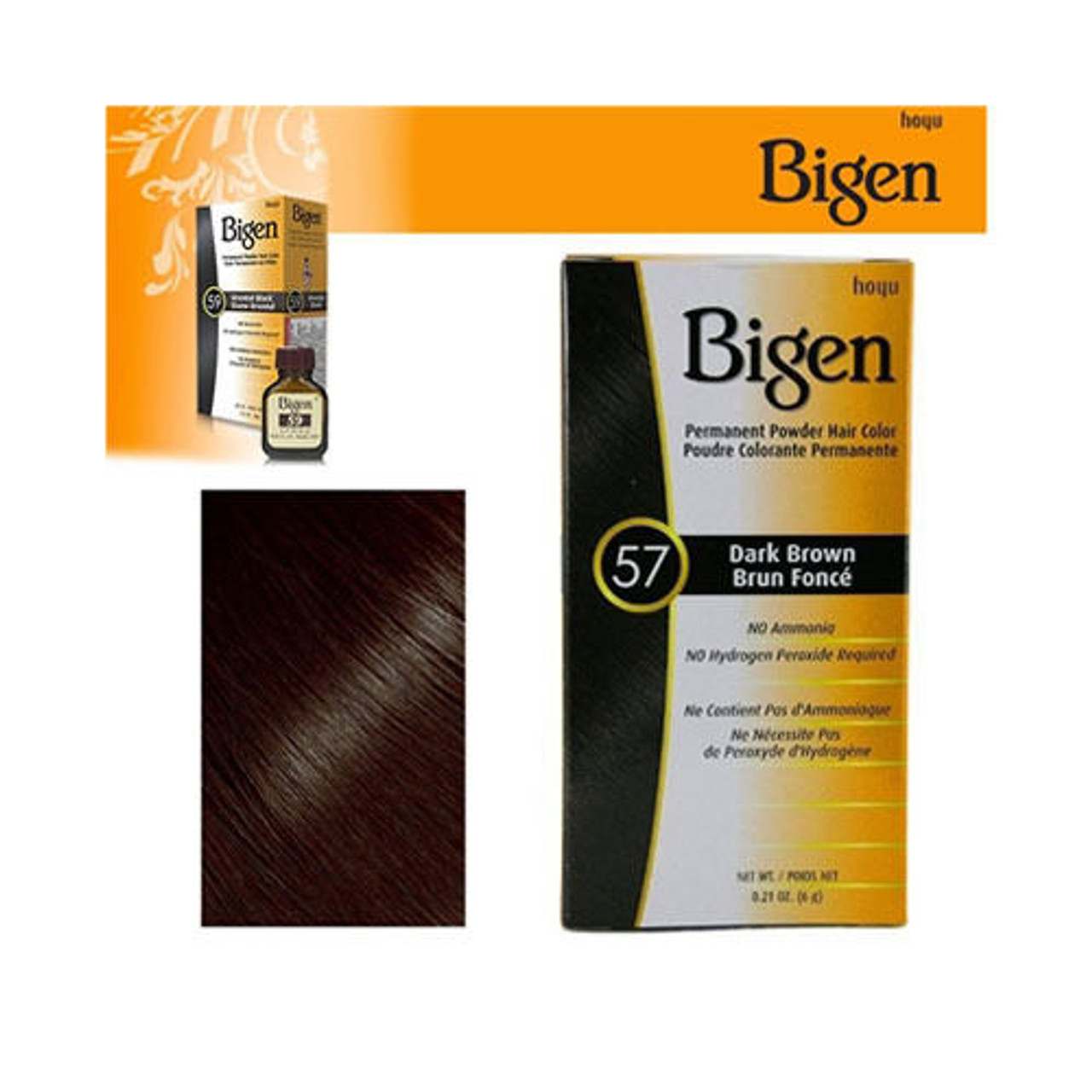 Bigen Dark Brown 57 0.21 oz