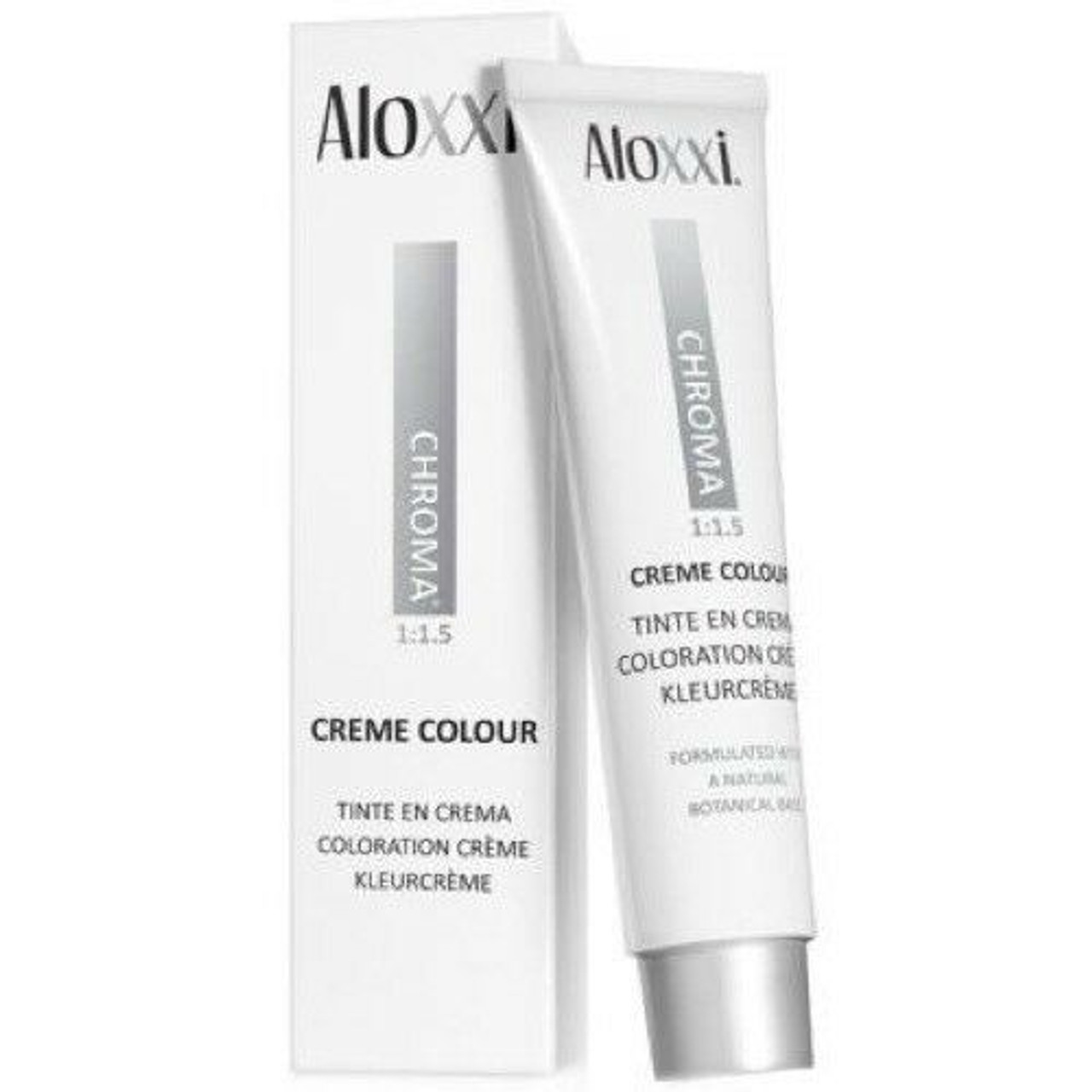 Aloxxi Creme Color tube and box