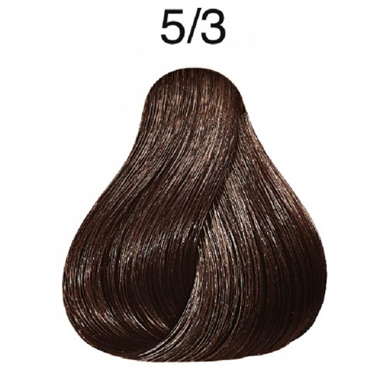 Wella 5/3 Semi-Permanent Hair Color: Light Golden Brown
