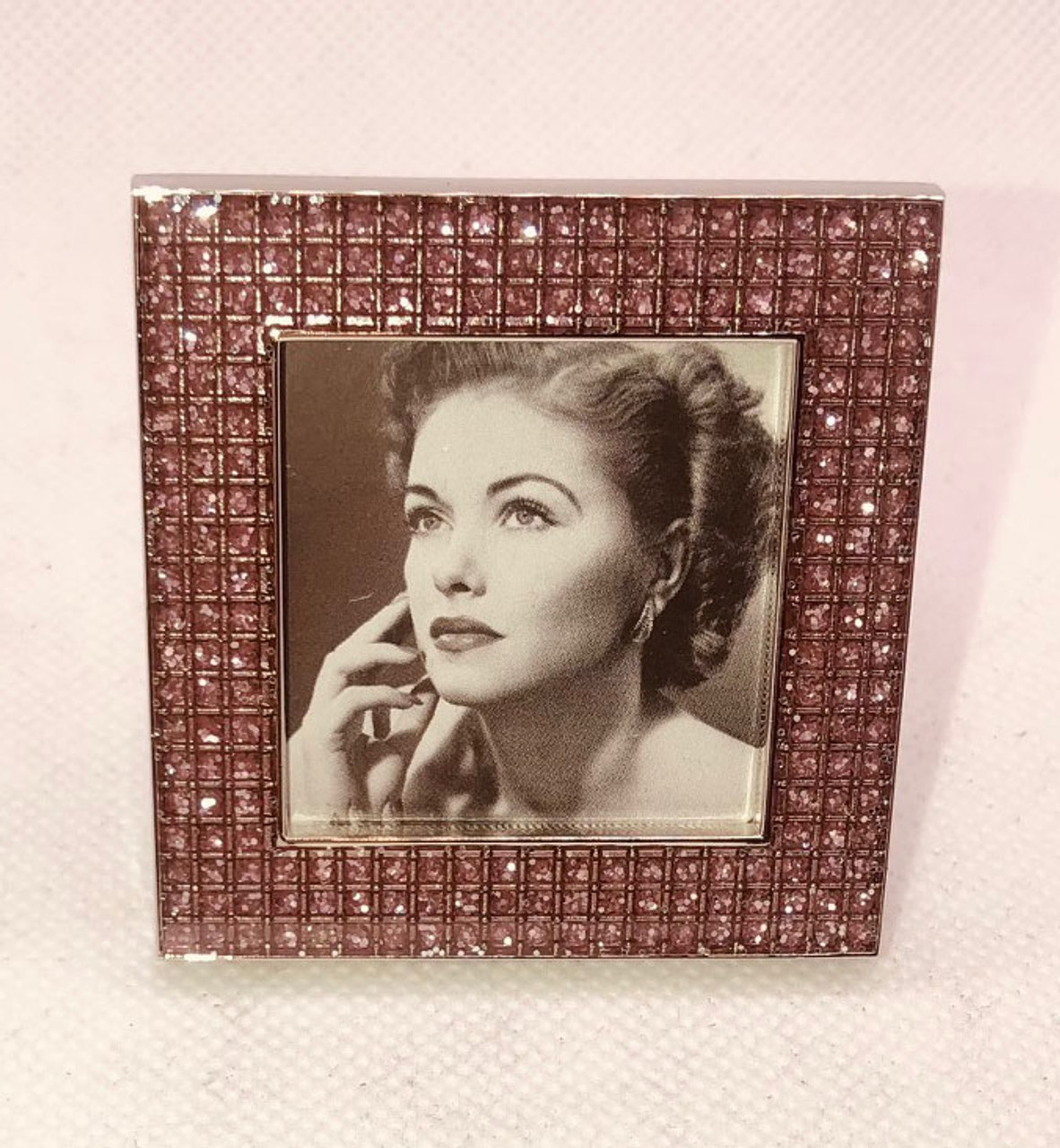 Silver Frame 2X2 Pink Mini Square