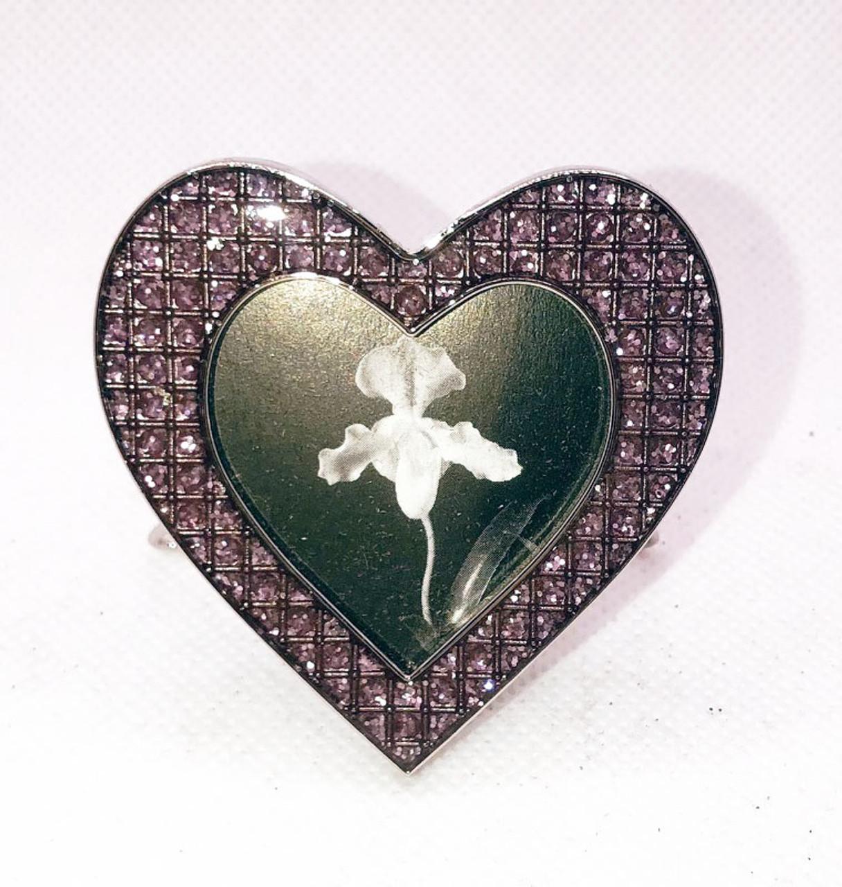 Silver Frame 2X2 Pink Mini Heart