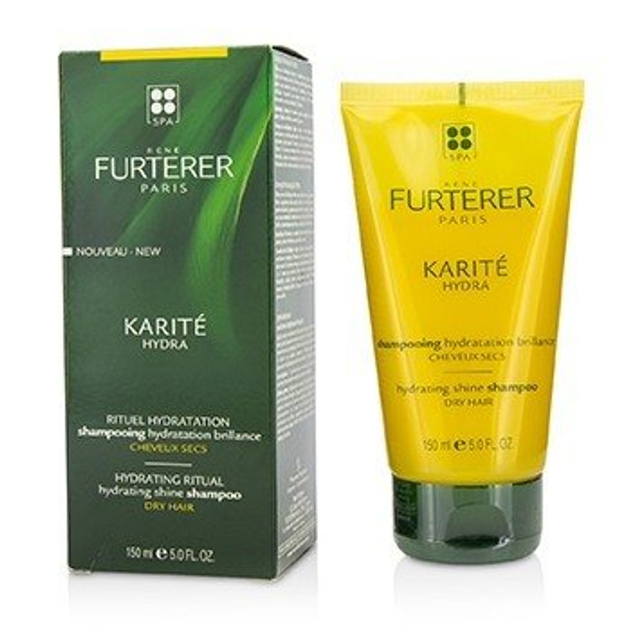 Rene Furterer Karite Hydra Shampoo 5 oz: box and tube