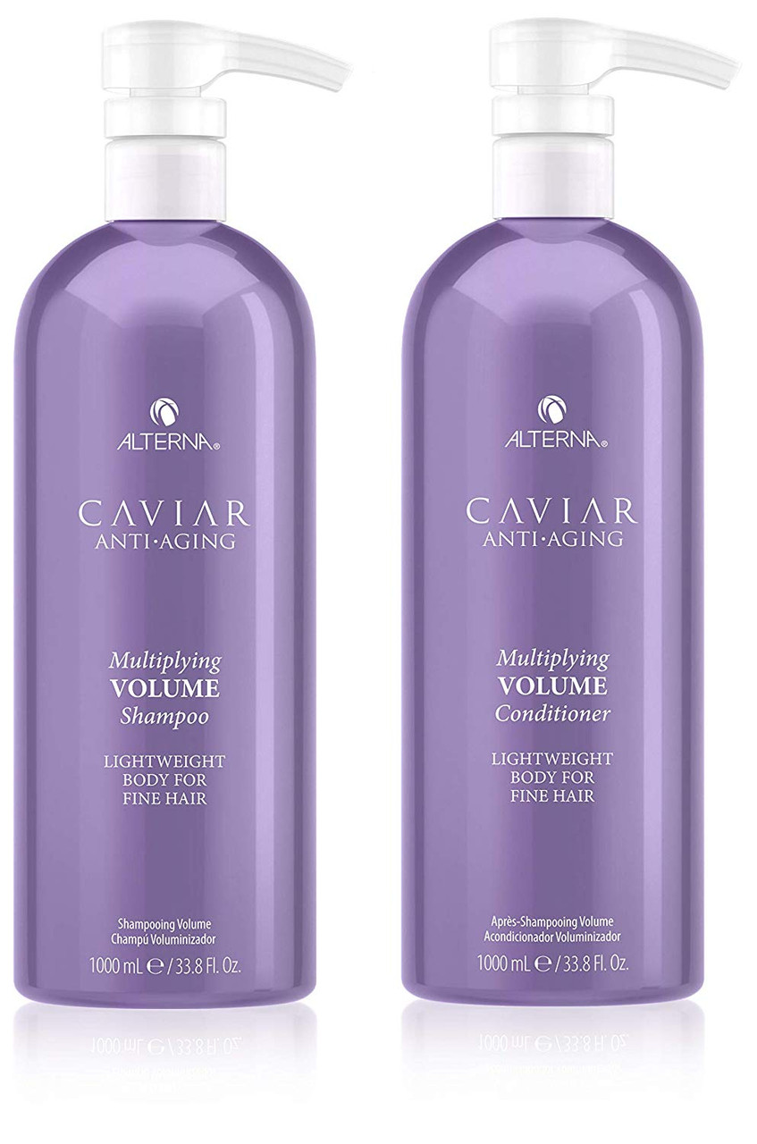 CAVIAR Anti-Aging Multiplying Volume Shampoo & Conditioner Set, 33.8-Ounce