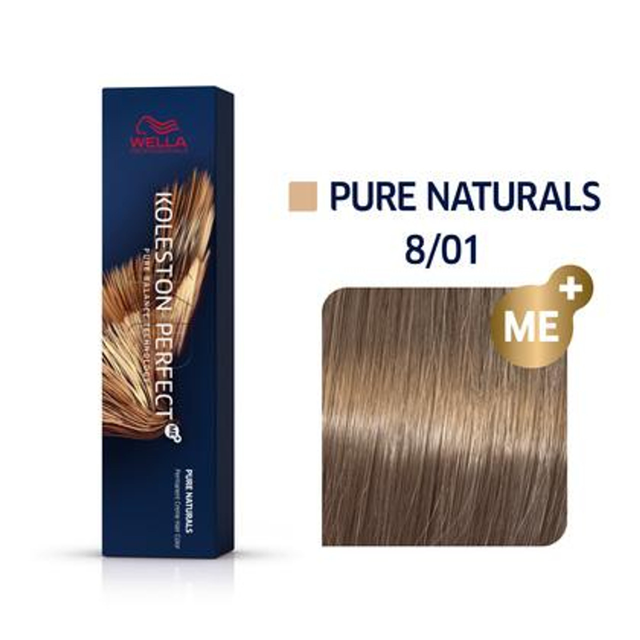 Wella Koleston Perfect Permanent Creme Hair Color - 8/01 Pure Naturals 2 Oz.