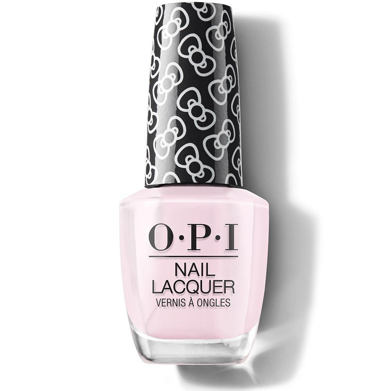 OPI Hello Kitty Limited Edition Nail Polish - Let's Be Friends! 15 mL  With this cotton-candy nail polish, create the perfect manicure with the OPI Hello Kitty Limited Edition Nail Polish. Celebrating the iconic character's 45th birthday, this collection is instantly recognizable thanks to the cute bow-printed lid. Easy to apply, the nail polish glides on effortlessly to deliver highly-pigmented, chip-resistant color, whilst its exclusive ProWide brush allows controlled, precise application for mistake-free, salon-worthy tips. Made in the USA.
