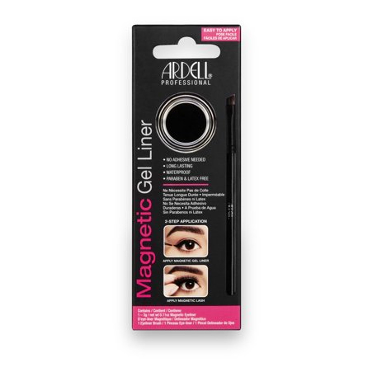 Ardell Magnetic Gel Liner  Stay-put gel formula eyeliner in matte black creates an intense line, and holds your magnetic lashes in place!
