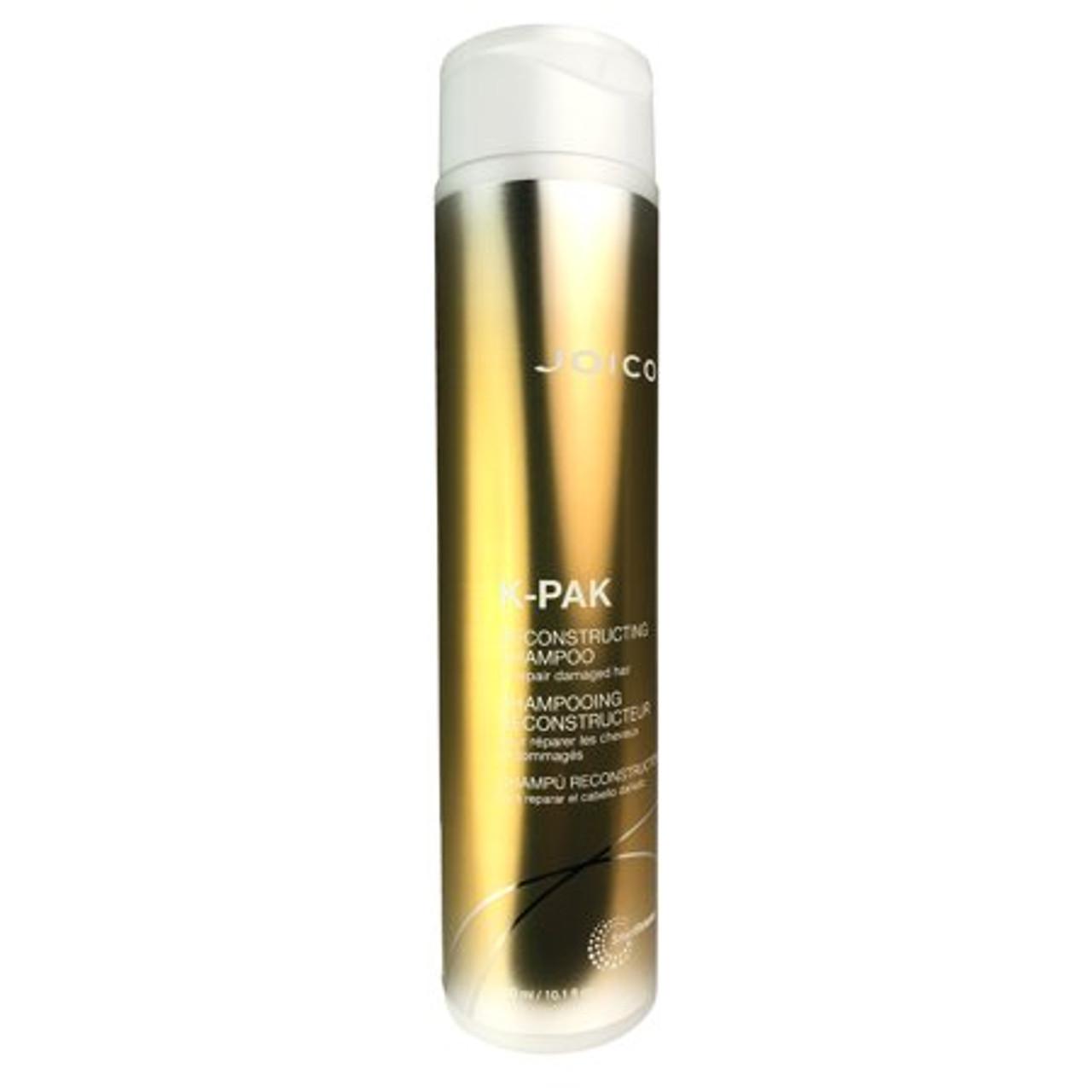 Joico K-PAK Reconstructing Shampoo for Damaged Hair 10.1 Ounce  Reconstructing shampoo's rich lather gently cleanses damaged hair.