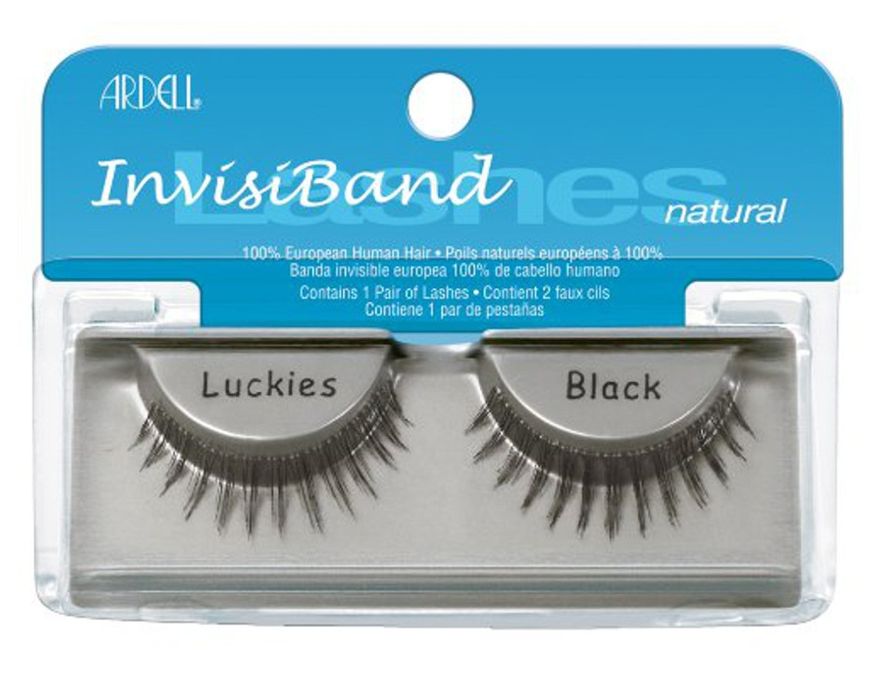 Ardell Natural (Invisiband) Lashes - Luckies Black
