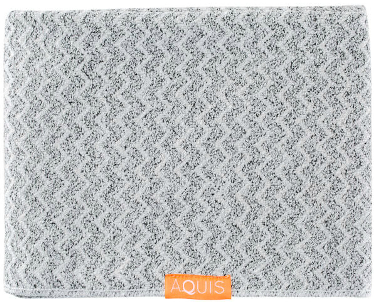 Aquis Lisse Luxe Long Hair Towel, Chevron