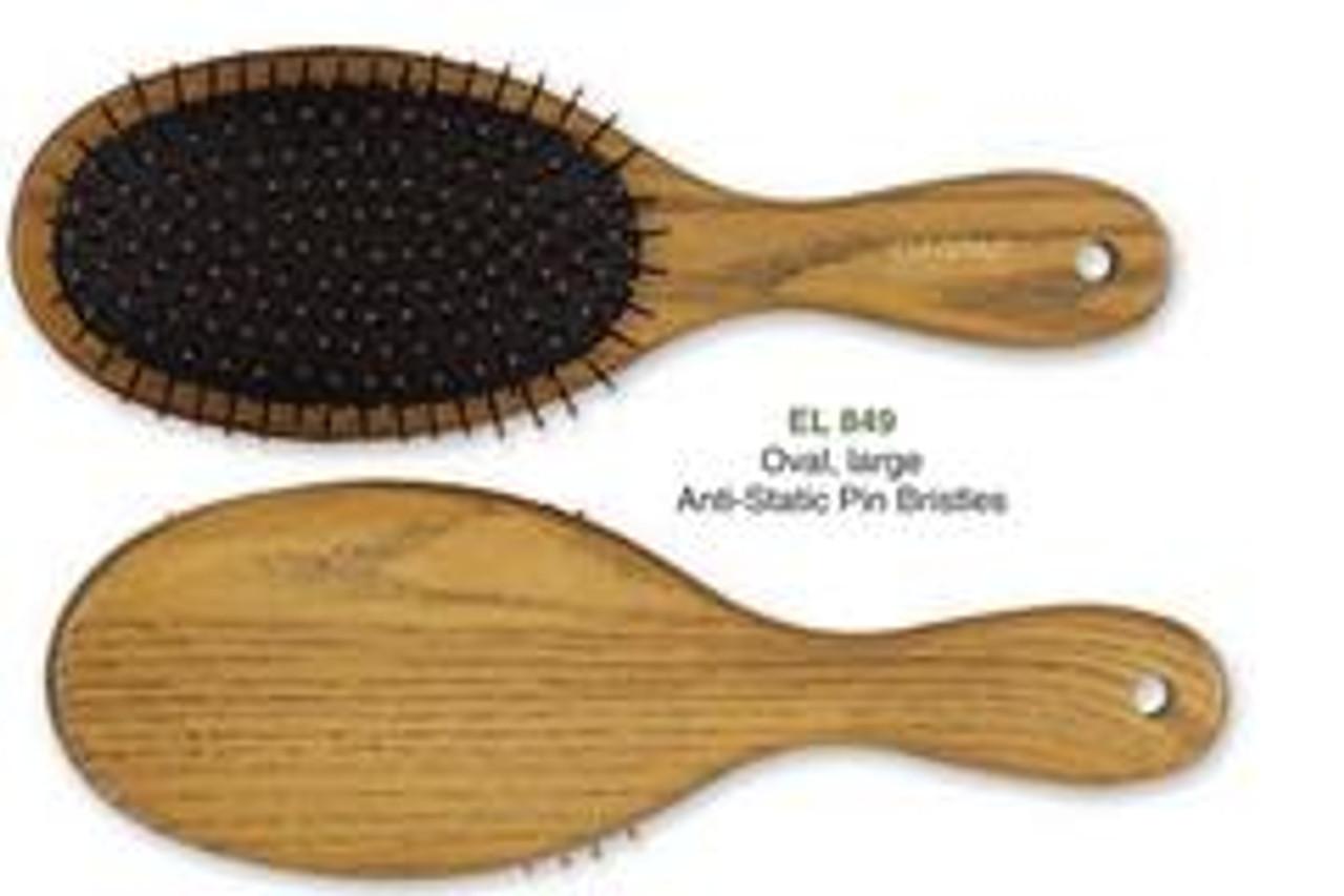 Elegant Ashwood Oval Medium Brush Note: Image shows large model of brush