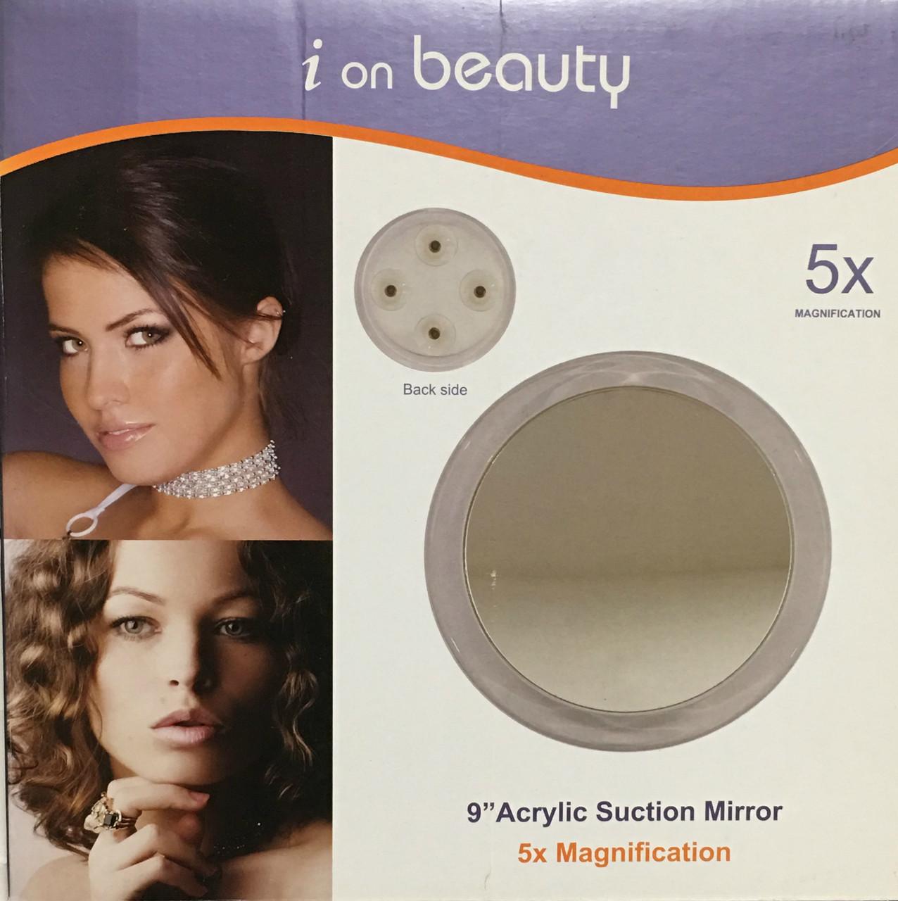 "Lilique i on beauty 9"" Acrylic Suction Mirror"