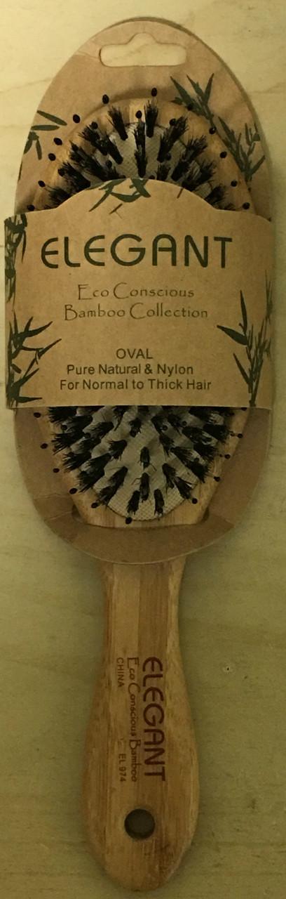 Elegant Mix Oval Bamboo Brush
