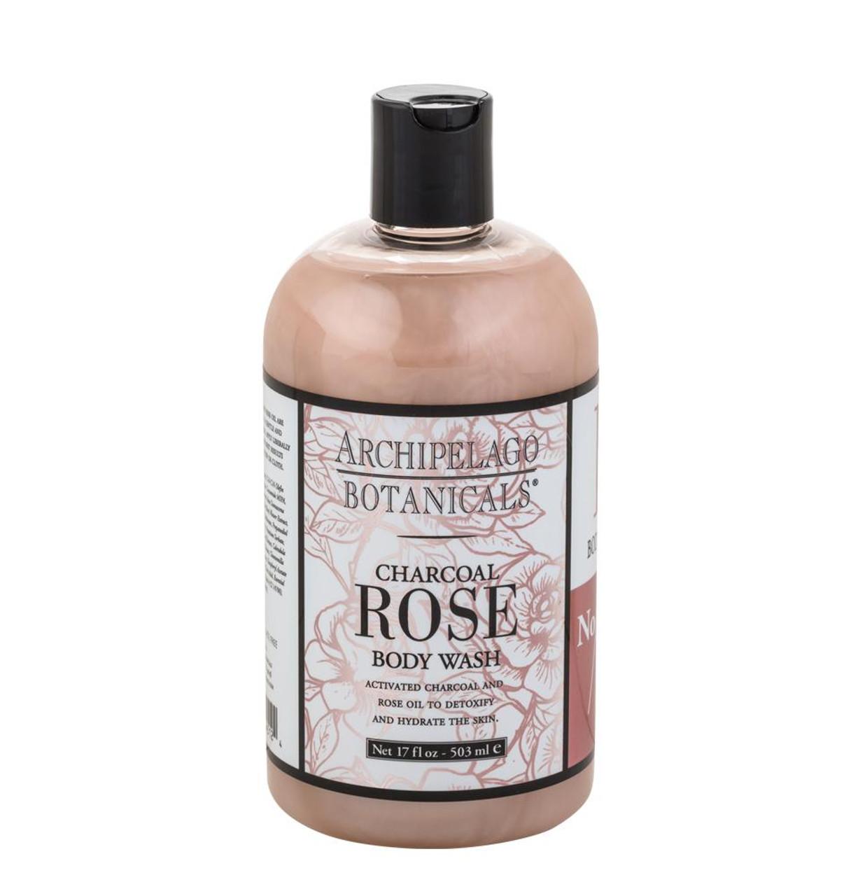 Archipelago Charcoal Rose Body Wash 17 oz