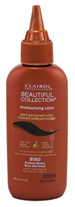 Clairol Beautiful B18D Darkest Brown Hair Color