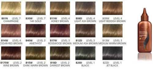 Clairol Beautiful color chart