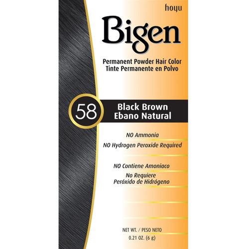 Bigen 58 Black Brown Hair Color 0.21 oz