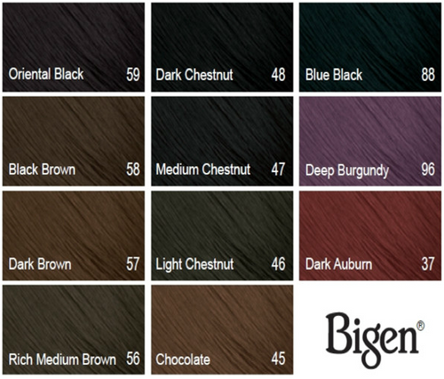 Bigen Color Chart