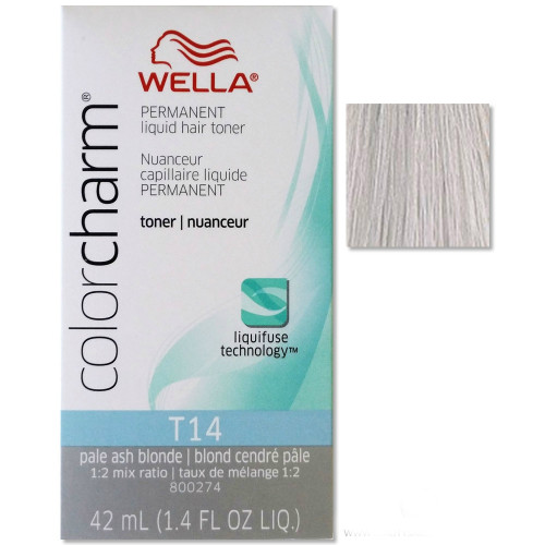 Wella T14 Color Charm Toner - Pale Ash Blonde - 1.4 oz